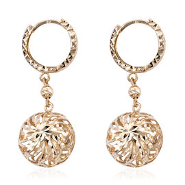 Royal Bali Collection 9K Yellow Gold Dangle Earrings (with Clasp) Gold Wt 2.13  Grams