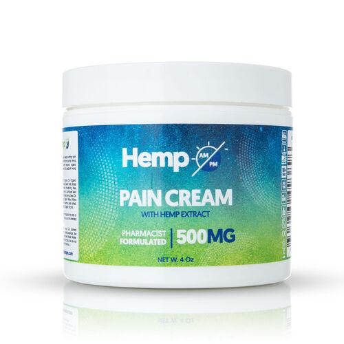 Hemp AM PM: Pain Relief Cream (500mg) - 110g