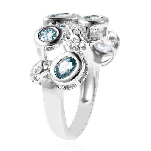 RACHEL GALLEY Misto Collection - AA Ratnakiri Blue Zircon Ring in Rhodium Overlay Sterling Silver 3.01 Ct