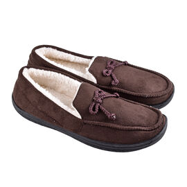 Brown Colour Mens Microfibre Moccasin Slippers