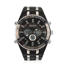 Barkers Of Kensington - Aero Sports Watch - Black and Silver