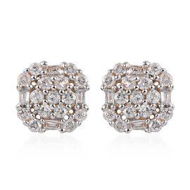 Diamond 9K Y Gold Earring  0.500  Ct.