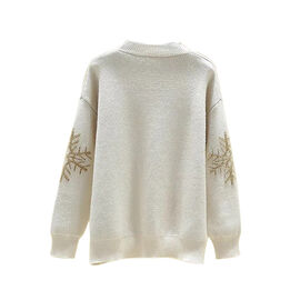 Kris Ana Christmas Snowflake Jumper One Size (8-16) - Beige