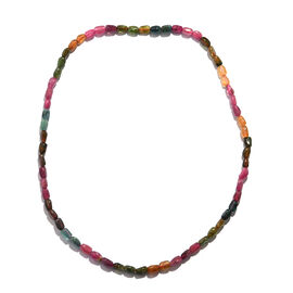 120 Ct Rainbow Tourmaline Tumble Beaded Necklace 20 Inch