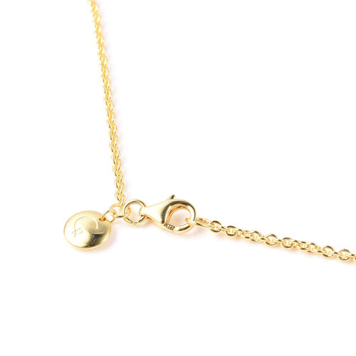 RACHEL GALLEY Pebble Collection - Rhodium Overlay Sterling Silver Station Necklace (Size 30), Silver wt 22.36 Gms