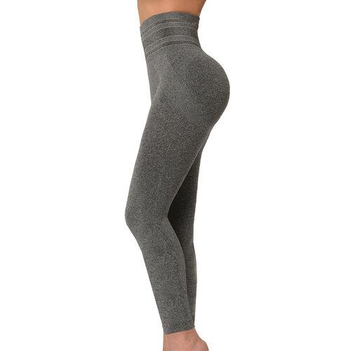 SANKOM SWITZERLAND Premium Yoga Full Leggings - Grey Melange (Size S / M)