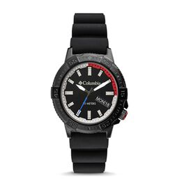 Columbia Peak Patrol Black 3-Hand Day Date Black Silicone Watch