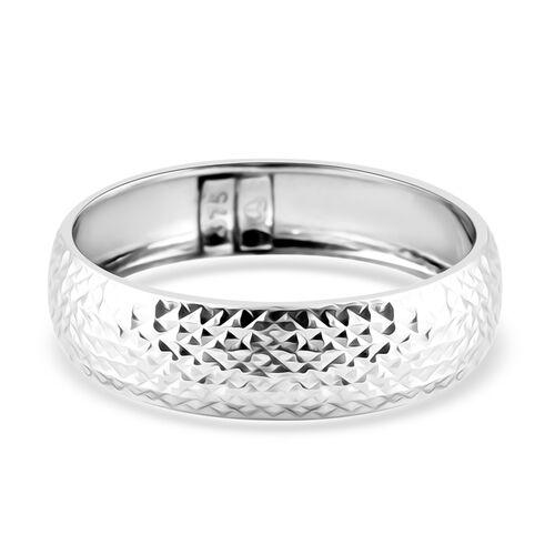 Diamond Cut Band Ring in 9K White Gold