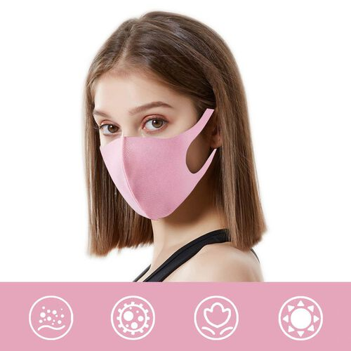 Reusable Washable Face Covering - Pink
