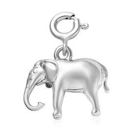 Platinum Overlay Sterling Silver Elephant Charm