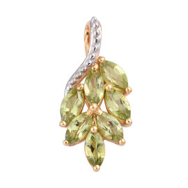 Hebei Peridot (Mrq) Pendant in 14K Gold Overlay Sterling Silver 2.000 Ct.