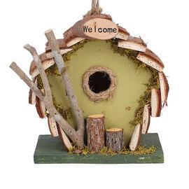 Handmade Wooden Birds Mansion - Green