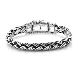 Royal Bali Collection Sterling Silver Snake Bone Bracelet (Size 7.5), Silver wt 63.16 Gms.