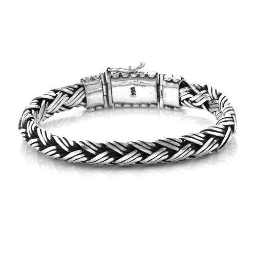 Royal Bali Collection Sterling Silver Snake Bone Bracelet (Size 7.5), Silver Wt: 63.16 Gms.