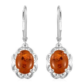 Biggest Warehouse Clerance Deal-Baltic Amber (Ovl) Lever Back Earrings in Sterling Silver 1.250 Ct.
