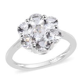 1.50 Carat Petalite Pressure Set Floral Ring in Sterling Silver