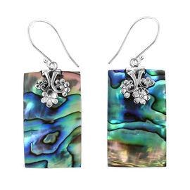 Abalone Shell Hook Earrings in Silver