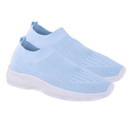 Ladies Comfortable Slip-On Trainer   - Blue