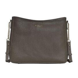 Assots London LOUISA - 100% Genuine Leather Handbag with Shoulder Strap (30x7x24cm) - Olive Green