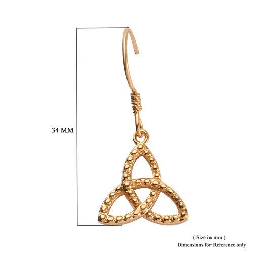 14K Gold Overlay Sterling Silver Celtic Knot Hook Earrings