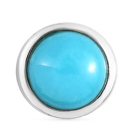 Arizona Sleeping Beauty Turquoise Pendant in Platinum Overlay Sterling Silver 1.21 Ct.