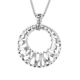RACHEL GALLEY Pendant with Chain (Size 30) in Rhodium Overlay Sterling Silver  Wt. 15.7 Gms.