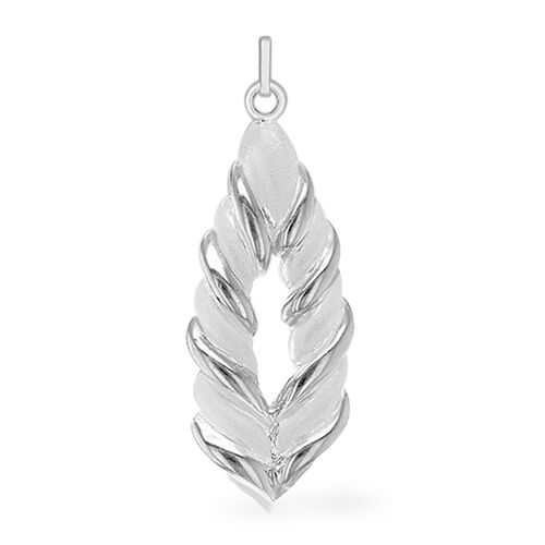 One Time  Close Out- Designer Inspired High Polished Twisted Pendant, Silver wt 5.00 gms.