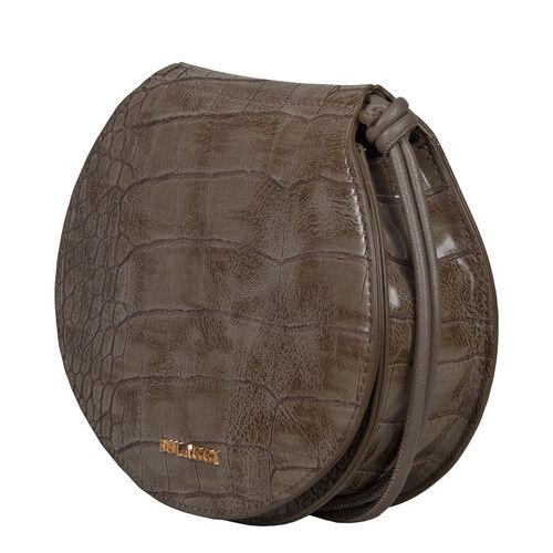 Bulaggi Collection Iris Croco Crossbody Bag - Taupe