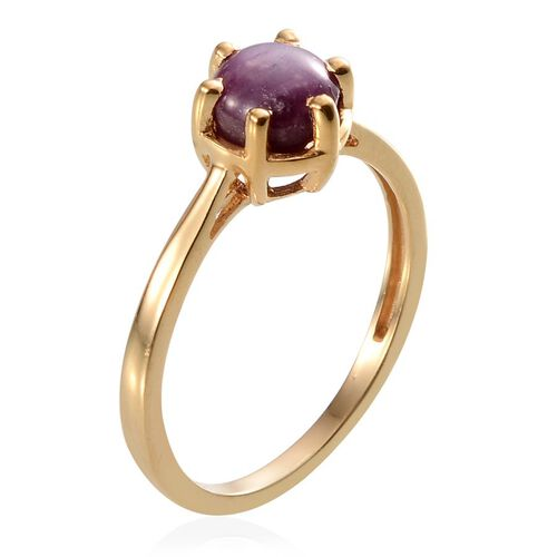 Star Ruby (Rnd) Solitaire Ring in 14K Gold Overlay Sterling Silver 2.250 Ct.
