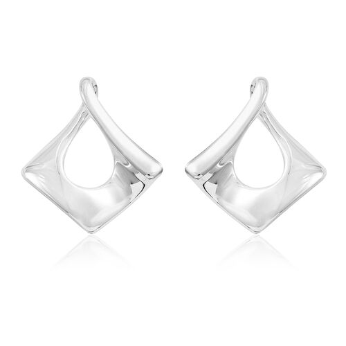 Vicenza Collection-Sterling Silver Twisted Earrings (with Push Back), Silver wt. 7.38 Gms.