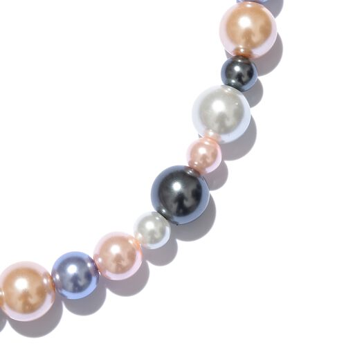 Hong Kong Endless Collection - Multi Colour Simulated Pearl Beads Necklace (Size 36)