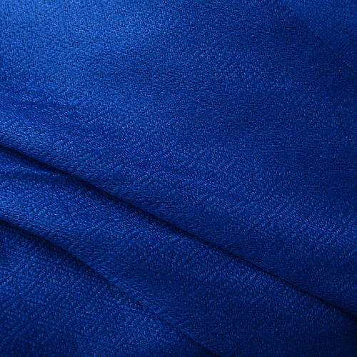 100% Cashmere Wool French Navy Blue Colour Shawl with Fringes (Size 200X70 Cm)
