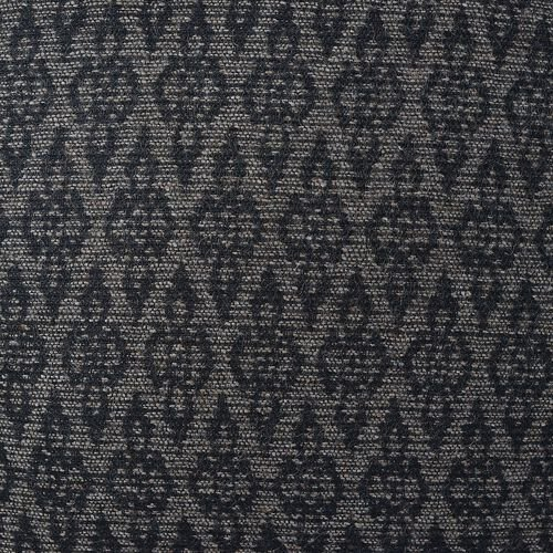 55% Wool Beige and Chocolate Colour Jacquard Cushion (Size 43x43 Cm)