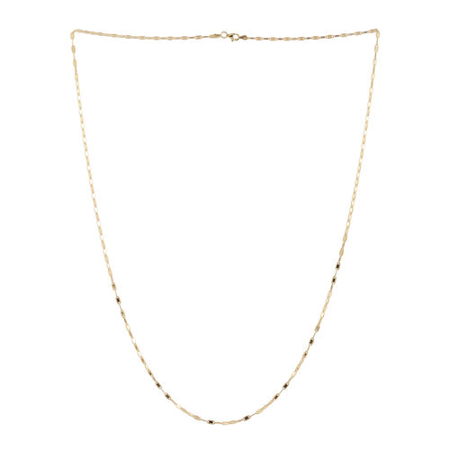 14K Gold Overlay Sterling Silver Valentino Chain (Size 30), Silver wt 6.90 Gms.
