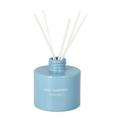 The 5th Season - Gift Box Set of Scented Candle and Diffuser - Blue (Fragrance Cold Water & Candle: Amber Ebony)