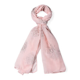 New Arrival- Light Pink Colour Tree Pattern Scarf (Size 180x70 Cm)