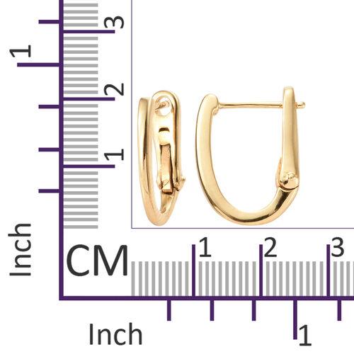14K Gold Overlay Sterling Silver Hoop Earrings