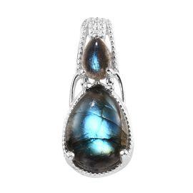Labradorite (Pear) Pendant in Sterling Silver 7.25 Ct.
