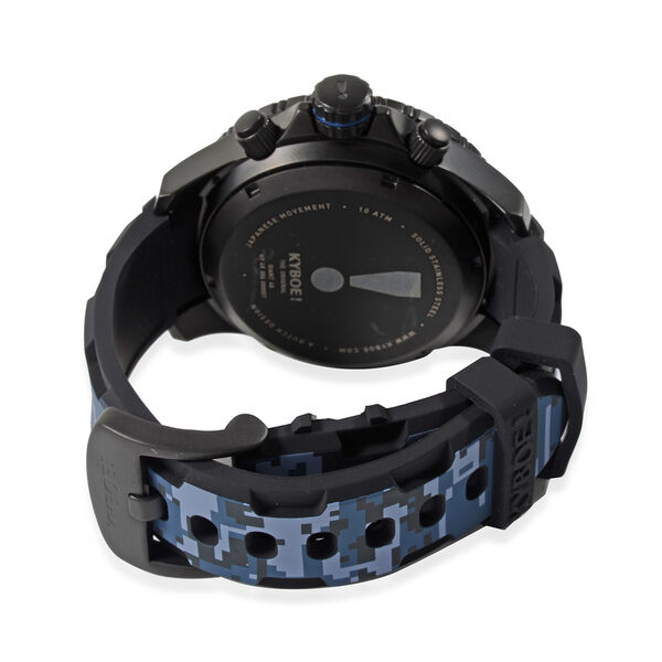 KYBOE Camo Collection- Blueberry Hybrid - 48MM LED Watch - 100M Water Resistant