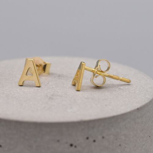 9K Yellow Gold Stud Earring (With Push Back),  Gold Wt. 0.35 Gms