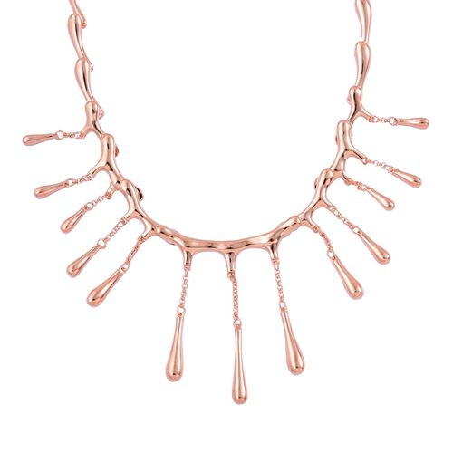 LucyQ Multi Drip Necklace (Size 16 with 4 inch Extender) in Rose Gold Overlay Sterling Silver 42.84