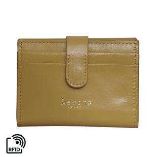 Assots London GROVE 100% Genuine Leather RFID Cardholder - Mustard