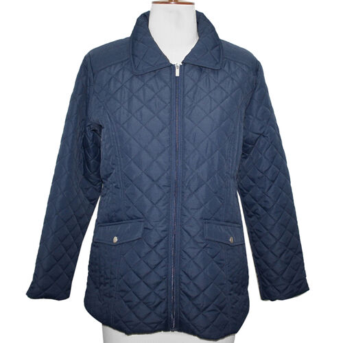 SUGAR CRISP Padded Quilted Jacket (Size 18) - Navy