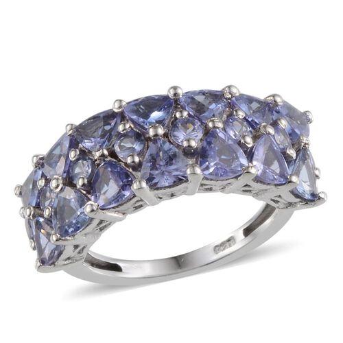 Tanzanite (Trl) Ring in Platinum Overlay Sterling Silver 2.750 Ct.