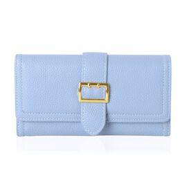 Blue Colour Trifold Ladies Wallet (Size 18.6x9x2 Cm)