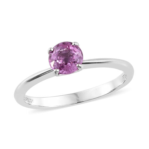 RHAPSODY 950 Platinum AAAA Pink Sapphire Solitaire Ring