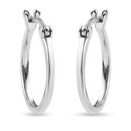 RHAPSODY 950 Platinum Hoop Earrings (with Clasp Lock), Platinum wt 1.82 Gms