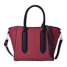 Brick Colour Stylish Tote Bag with Zipper Closure and Adjustable Shoulder Strap (Size 27x14x24cm)