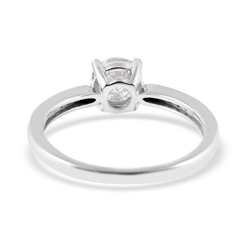 9K White Gold SGL Certified Diamond (Rnd) (I3/G-H) Ring 1.00 Ct.