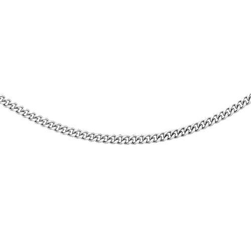 RHAPSODY 950 Platinum Diamond Cut Curb Necklace (Size 22), Platinum wt 8.70 Gms.